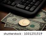 golden litecoin cryptocurrency... | Shutterstock . vector #1031251519