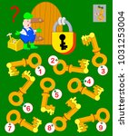 logic puzzle game for children... | Shutterstock .eps vector #1031253004