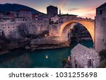 beautiful view to the old... | Shutterstock . vector #1031255698