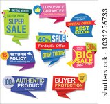sale stickers and tags colorful ... | Shutterstock .eps vector #1031256733