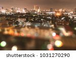 blurry bangkok night view with... | Shutterstock . vector #1031270290
