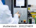 mechanical technician operating ...   Shutterstock . vector #1031274859