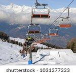 pila  aosta  italy   feb 19 ... | Shutterstock . vector #1031277223