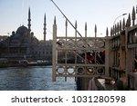 new mosque aka yeni cami in... | Shutterstock . vector #1031280598