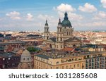 roofs of budapest with the... | Shutterstock . vector #1031285608