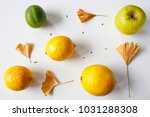 flat lay composition of lemons  ... | Shutterstock . vector #1031288308
