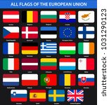all flags of the countries of... | Shutterstock .eps vector #1031290123