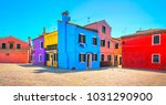 venice landmark  burano island... | Shutterstock . vector #1031290900