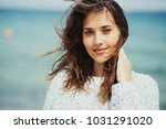 beautiful woman enjoing with a... | Shutterstock . vector #1031291020