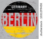 berlin tee poster graphic design | Shutterstock .eps vector #1031299450
