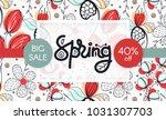 spring sale. floral pattern....   Shutterstock .eps vector #1031307703