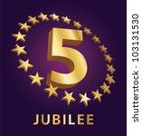jubilee  golden laurel wreath 5 ... | Shutterstock .eps vector #103131530