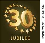 jubilee  golden laurel wreath...   Shutterstock .eps vector #103131533