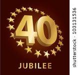 jubilee  golden laurel wreath...   Shutterstock .eps vector #103131536