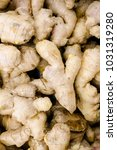 Small photo of A bad heap, all of Large whole ginger root, fresh at the farmers' market.