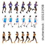 marathon runners | Shutterstock .eps vector #103131938