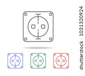 electric outlet icon. elements... | Shutterstock .eps vector #1031320924
