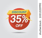 discount sale up to 35  off... | Shutterstock .eps vector #1031320990