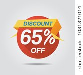 discount sale up to 65  off... | Shutterstock .eps vector #1031321014