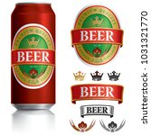 beer label vector visual on... | Shutterstock .eps vector #1031321770