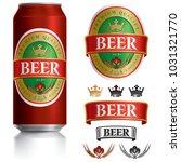 beer label vector visual on... | Shutterstock .eps vector #1031321770