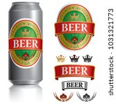 beer label vector visual on... | Shutterstock .eps vector #1031321773