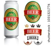 beer label vector visual on... | Shutterstock .eps vector #1031321776