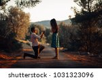 man in love proposing a... | Shutterstock . vector #1031323096