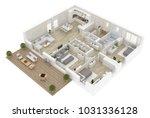 floor plan top view. apartment... | Shutterstock . vector #1031336128