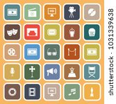 movie flat icons on orange... | Shutterstock .eps vector #1031339638