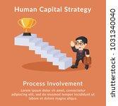 human capital strategy process... | Shutterstock .eps vector #1031340040