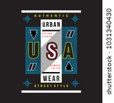 urban wear cool awesome... | Shutterstock .eps vector #1031340430