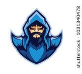 blue wizard e sport logo | Shutterstock .eps vector #1031340478