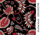 seamless pattern with fantasy... | Shutterstock .eps vector #1031342740