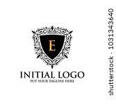 e royal classic shield logo icon | Shutterstock .eps vector #1031343640