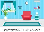 living room interior vector... | Shutterstock .eps vector #1031346226
