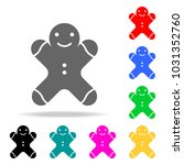 gingerbread man icon. elements...