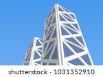 architecture 3d illustration | Shutterstock . vector #1031352910
