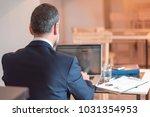 senior mature business man... | Shutterstock . vector #1031354953