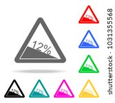 traffic sign steep incline 12... | Shutterstock .eps vector #1031355568