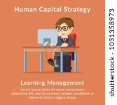 human capital strategy learning ... | Shutterstock .eps vector #1031358973