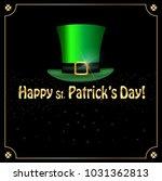 saint patricks day greeting...   Shutterstock .eps vector #1031362813