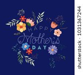 happy mothers day handmade font ... | Shutterstock .eps vector #1031367244