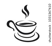 coffee cup icon on a white... | Shutterstock .eps vector #1031367610