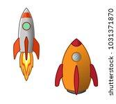 rocket launcher with outline... | Shutterstock .eps vector #1031371870