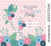 happy birthday party invitation ... | Shutterstock .eps vector #1031372164