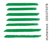 set of hand painted organic... | Shutterstock .eps vector #1031374378