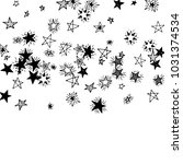 falling doodle stars. simple... | Shutterstock .eps vector #1031374534