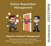 online reputation management... | Shutterstock .eps vector #1031374906