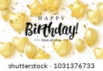 vector birthday elegant... | Shutterstock .eps vector #1031376733